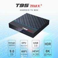 4.4 android 4k tv box بالجملة-4k Smart Android 9.0 TV Box Box Box Box Boxs T95X2 T95 Max Quad core Amlogic S905X3 2G 16G HDMI 3D 5.8 G WIFI STB