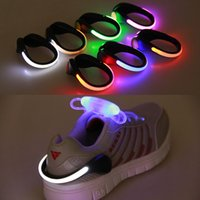 Wholesale cycling shoe clips resale online - 1 Useful Outdoor Tool LED Luminous Shoe Clip Light Night Safety Warning LED Bright Flash Light for Running Cycling