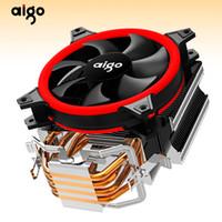 amd am2 işlemcileri toptan satış-Aigo E3 Bilgisayar Kasası CPU Soğutucu Radyatör Alüminyum 12 V Işlemci Soğutucu 4 Isı Borular CPU Soğutma Fanı Intel AM2 / AM3 / AM4