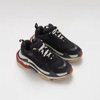 kadınlar için en iyi tasarımcı ayakkabıları toptan satış-Ucuz Moda Paris 17FW Üçlü S Sneakers Üçlü-S Rahat baba Kadınlar için Mens Tasarımcı Ayakkabı Tasarımcısı sneakers Spor Eğitmenler Chaussures