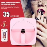 nägel druckmaschine großhandel-DIY Digital Mobile Nail Art Drucker tragbare 3D Smart Nail Painting Maschine 110-240V
