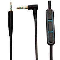 звуковые кабели оптовых-Аудиокабель для Bose QC25 Quiet Comfort кабель для наушников кабель 2,5 мм до 3,5 мм с регулятором громкости микрофона