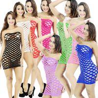 roupa interior de malha sexy para mulheres venda por atacado-Fishnet Underwear Elasticidade Algodão Lenceria Sexy Lingerie Hot Malha Baby Doll Dress Lingerie Erótica Para As Mulheres Trajes Sexuais