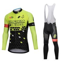 Wholesale long sleeve cycling jersey sale for sale - Group buy Holowesko team Cycling long Sleeves jersey bib pants sets Hot sale men bicycle clothing factory direct sale U40349