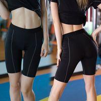 halbe strumpfhosen frauen großhandel-KARYZON Pantalon Fitness Femme Sport Running Short Strumpfhosen Frauen Gym Yoga Kleidung Compression Cropped Half Shorts Active Bottom