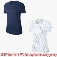 camiseta copa mundial de fútbol francia al por mayor-Copa Mundial Femenina 2019 camisetas de fútbol fuera de casa camisetas de fútbol camisetas uniformes de fútbol camisetas de fútbol maillot francia