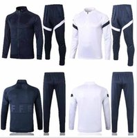 Wholesale soccer team jersey sets for sale - Group buy 20 frances Training suit soccer Jersey national team football shirts adult kit tracksuit set top quality adult size S XL