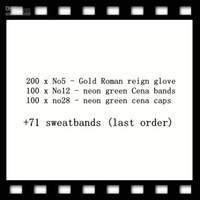 bant abs toptan satış-200 x No5 - Altın eldivenler 100 x No12 - neon yeşili Cena bantları 100 x no28