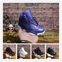 zapatos de baloncesto para niños a la venta al por mayor-Nuevo estilo de llegada 13 Zapatos de baloncesto para niños Zapatos de senderismo para niños Zapatos deportivos de calidad Zapatillas de baloncesto para niños y niñas tamaño de venta28-35