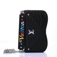mensageiro do telefone venda por atacado-2019 novo saco do mensageiro aleta carteira de couro case phone case capa para iphone xs max xr x 7 7 mais 8 8 plus 6 6 plus com slot para cartão
