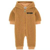 fleece babys kleidung großhandel-niedliche Strampler Baby geboren Herbst zimowa Decke Kinder Fleece Overalls Baby-Kleidungssätze