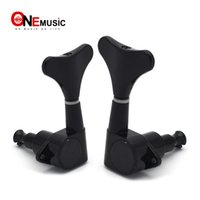 Wholesale black electric guitar tuning pegs for sale - Group buy 2R2L R L Black Bass Tuning Peg Guitar Tuners Machine Heads for Electric Bass