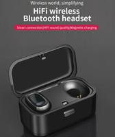 kulaklık su geçirmez kablosuz bluetooth stereo kulaklık toptan satış-HIFI Bluetooth 5.0 Stereo Kablosuz Kulaklık IPX5 Su Geçirmez Spor Kulaklık Kulak Içi Kulaklık Kulakiçi TWS Gürültü Ile Şarj kılıf Iptal