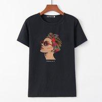 ingrosso ragazza di moda di blusas-2019 Moda Donna Ragazza T-Shirt Estate Donna Streetwear T-Shirt Stampa Manica Corta O Collo Slim Fit Camicia Casual Blusas M