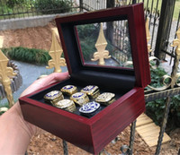 Wholesale souvenir baseball resale online - 7pcs Yankees Baseball Team Champions Championship Ring Set With Wooden Box Souvenir Men Fan Gift Drop Shipping