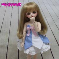 ingrosso bambole lunghe-Muzi Doll Wigs Filo ad alta temperatura Capelli lunghi lisci con frangiati disponibili per 1/6 BJD Accessori per bambole SD