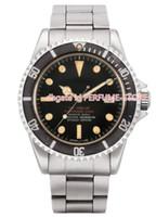 мужские часы оптовых-Мужская Luxury Factory Vintage 1979 Sea Dweller Great White Matte Mark I 1665 Сталь 40мм Часы Автоматические Cal.2813 Механические мужские часы