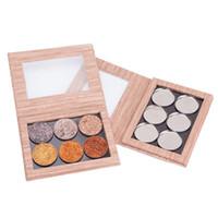 Wholesale shadow blush lipstick resale online - Wood Grain Magnetic Palette Magnet Disk DIY Replaceable Makeup Palette For Eye Shadow Lipstick Blush Tray Multi functional Tools