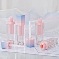 ingrosso imballaggio in plastica liquida-vendita all'ingrosso 5 ml rosa lip gloss tinta tubi di plastica fai da te vuoto trucco big lipgloss liquido rossetto caso imballaggio di bellezza