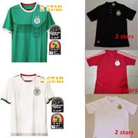 polo xs al por mayor-2 estrellas 2019 2020 Argelia Camiseta de fútbol Traje de entrenamiento Adulto POLO 19 20 Argelia Manga larga Camiseta de fútbol MAHREZ FEGHOULI SLIMANI Kits para niños