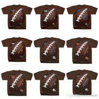 ingrosso vendita delle baia-Cotone Vendita calda NOVITÀ 2019 Uomo Bengals Browns Dallas Cowboys Broncos Detroit Lions Green Bay Packers KickoffTie-Dye T-Shirt 100% Cotone
