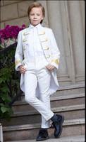jaqueta de mandarim de meninos venda por atacado-Bonito Double-Breasted Mandarim Lapela Kid Designer Completo Bonito Menino Terno De Casamento Dos Meninos Do Traje Feito Sob Medida (Jacket + Pants + Tie) A37