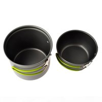 1pc stainless steel folding camping picnic mess tin bowl cookware ZN VB*a