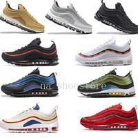oro blanco real al por mayor-Nike Air Max 97 Airmax 97 air 97 Zapatillas de deporte para mujer 2019 Zapatillas de correr talla 36-45