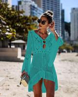 plaj bikini örtüleri toptan satış-2020 Yeni yaz bikini yüzme küçük kelebek deseni plaj kapak Kapak-Ups serin giysi damla nakliye yapabilirsiniz renkleri karıştırmak Şal