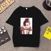 Wholesale print t shirts for girls resale online - Women Clothing Woman Shirt European American Style Tops For Women Girl Print Short Sleeve Cotton T Shirt Feminina Loose T Shirts