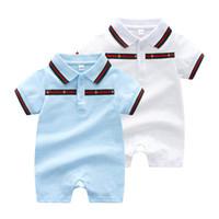 boy girl overoles al por mayor-Mono de verano traje infantil Mamelucos del bebé ropa de polo de algodón ropa de bebé recién nacido Bebé Niña Niños bebés roupas en general