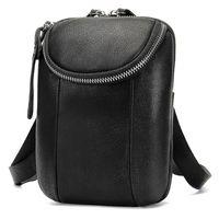 Wholesale men leather waist bag mini resale online - Men Leather Waist Bag Men s Casual Leather Purse Outdoor Multifunctional Mini Waist Bags Hanging Phone Pack Bag