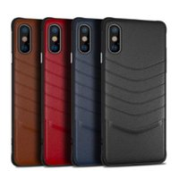 Wholesale new leather phone case for sale - New luxury leather case for iphone XR XS MAX X S plus cell phone case business for Samsung Galaxy S8 S9 S10 Plus Note slim cover