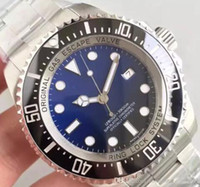 Wholesale hot sale luxury watches for sale - Group buy Hot Sale Men Watch SEA DWELLER Ceramic Bezel mm Stainless Steel BKSO Automatic D Blue Cameron Diver Mens Watches Wristwatches