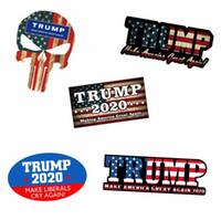 bayrak çıkartmaları toptan satış-Trump 2020 Bayrak Araba Sticker Şapka Yeniden Seçim Amerika Büyük Donald Tutun Başkan ABD Çıkartması Sticker Araba Styling Araç Paster Için