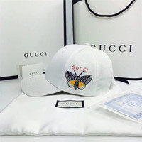 Wholesale butterfly hats resale online - Designer Hot Fashion The butterfly embroidery Baseball Cap Spring and Summer Simple Baseball Cap Men s Sun Visor Hats ladies Wild Ball Caps