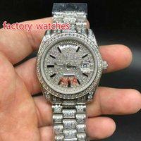 ingrosso guarda i grandi orologi d'argento per le donne-Le donne della vigilanza AAA dell'orologio della vigilanza della vigilanza AAA della vigilanza di lusso del grande diamante pieno automatico di migliore qualità 36 impermeabilizzano gli orologi dell'acciaio inossidabile trasporto libero