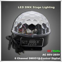 Wholesale ball sound effects for sale - Group buy new arrivals Channel DMX512 Control Digital LED RGB Crystal Magic Ball Effect Light DMX Disco DJ Stage Lighting