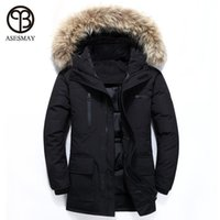 20afb2878a65 Pop 2019 Asesmay Men Down Jacket White Duck Down Coats Thick Warm Parkas  Male Casual Winter Jackets Hoodies Fur Goose Feather Coat