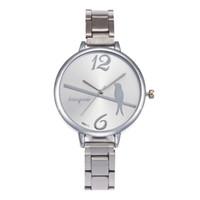 женщина тонкие часы оптовых-Woman Round Dial Watch Alloy Fabala Wristwatches Exquisite Super Slim Quartz Jewelry