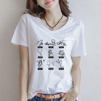 ingrosso tee coreane dei capretti-Kpop Stray Kids Signature Lettera Stampa Tshirt manica corta Tops Streetwear Moda stile coreano Tees Mixtape Album Chemise Femme