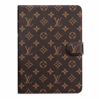 противоударная кожа силиконовой таблетки оптовых-Для ipad pro 12.9 / Air3 pro10.5 / ipad2 3 4 5 6 / mini1 2 3 4 Дизайнерская роскошная классическая винтажная кожаная сумка для карты Держатель ipad Case mini5 mini4