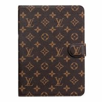 ipad case venda por atacado-Para ipad pro 12.9 / air3 pro10.5 / ipad2 3 4 5 6 / mini1 2 3 4 designer de luxo clássico do vintage bolsa de couro titular do cartão ipad case mini5 mini4