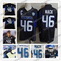 toro de la vendimia al por mayor-Buffalo Bulls Hombres Jóvenes Mujeres Retro # 46 Khalil Mack cosido Negro Vintage NCAA College Football Jerseys Compras gratis
