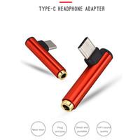 ingrosso adattatore per cuffie mobili-10 Pz / lotto USB Tipo C a 3.5mm Jack Adattatore per cuffie Tipo C a AUX Audio Splitter Converter per telefono cellulare