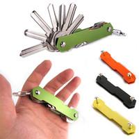 EDC Léger Pliable Clé Organisateur Poche Porte-clé en aluminium Porte-clés barre
