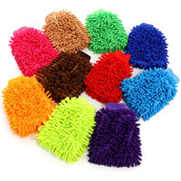 Wholesale coral gloves for sale - Group buy Chenille gloves Candy color chenille Cleaning gloves High density Coral Washing Gloves Multi use double sided Chenille glove BWD698