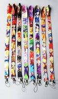 hals id-karte großhandel-Hohe Qualität 45 cm Dragon Ball und Naruto Umhängeband Lanyard Für Telefonschlüssel ID Card Großhandel