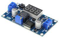 dijital ayarlanabilir güç kaynağı toptan satış-30 ADET LM2596S DC-DC Ayarlanabilir regüle güç kaynağı modülü dijital ekran voltmetre ile LM2596 Voltaj regülatörü freeshipping