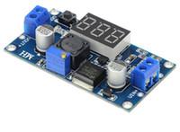 Wholesale digital voltmeter dc power supply resale online - 30PCS LM2596S DC DC Adjustable regulated power supply module LM2596 Voltage regulator with digital display voltmeter freeshipping